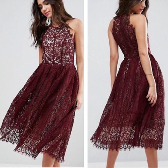 7f98212c66fe ASOS Dresses | Nwt Lace Midi Dress | Poshmark